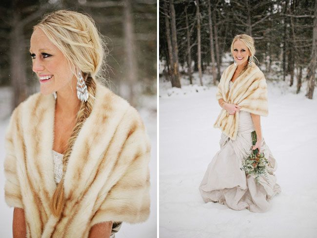 Gush Over Fur Stoles The Perfect Winter Wedding Cover Up It Is An Effortless Way To Stay Cozy Warm And Hy On Your Day While Of Course