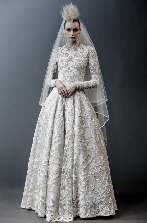 Royal wedding influence gown bridal model