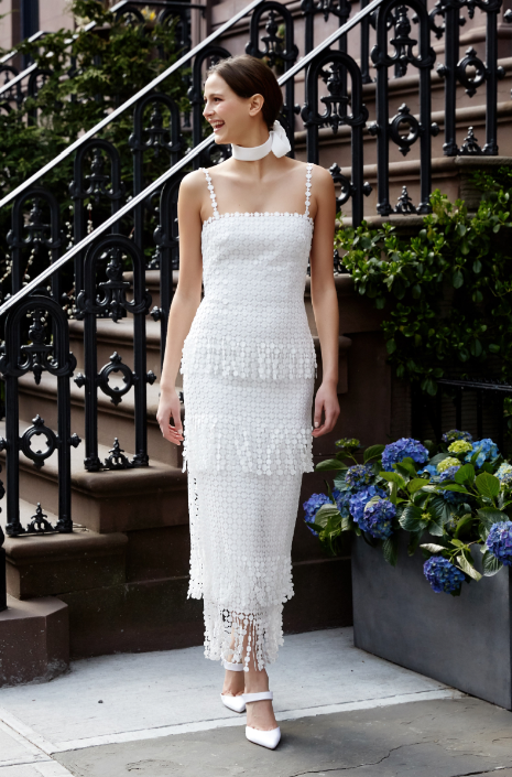 wedding gown modern fringe