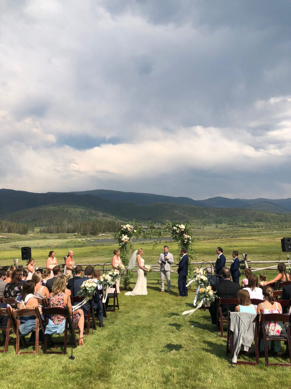 Outdoor Colorado Wedding Ceremony Mountain