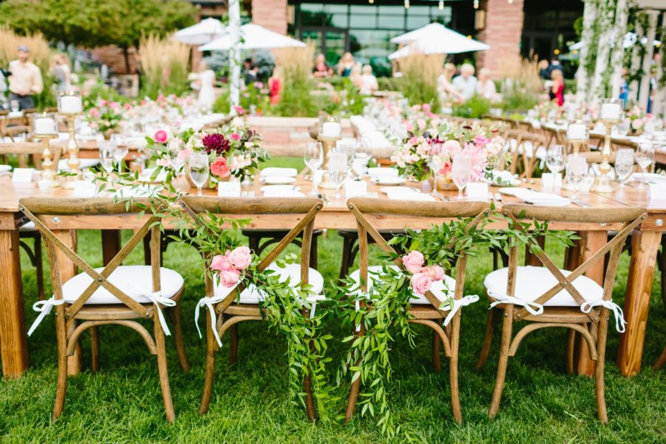 Outdoor Farm Table Wedding Reception Boulder