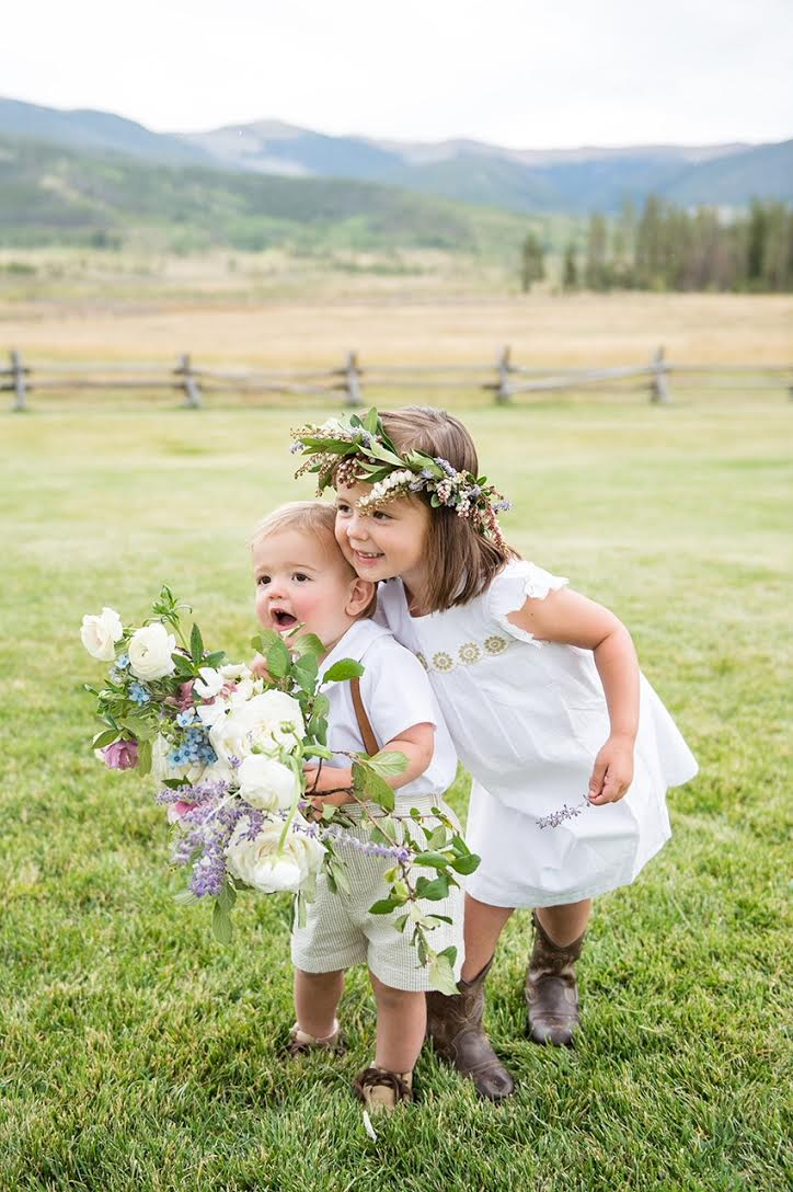 Flower Girl Ring Bearer Outdoor Rustic Ceremony Boots