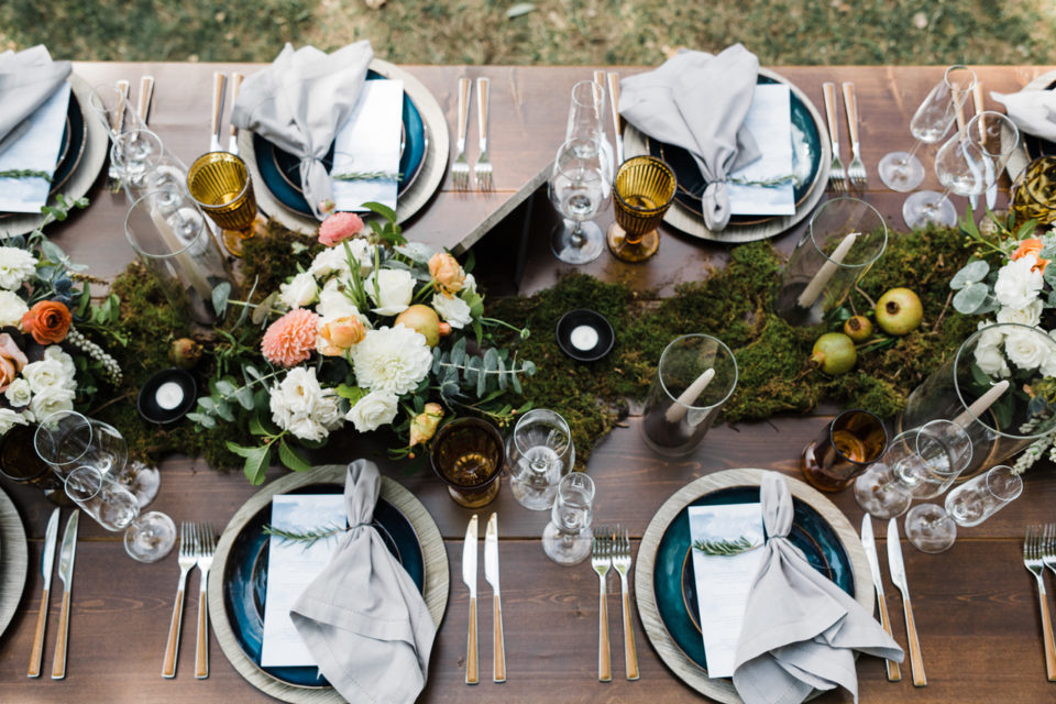 Teal Farm Table Place Setting
