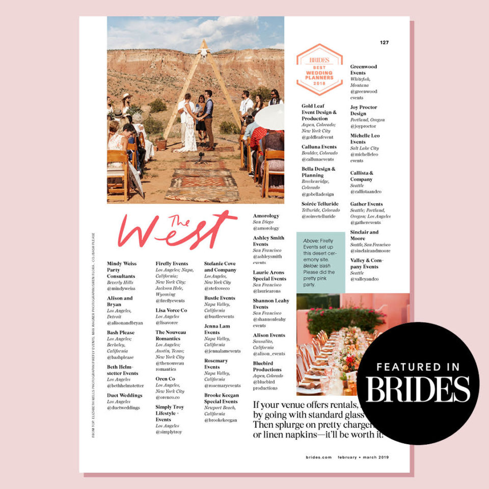 BRIDES best wedding planners america logo west