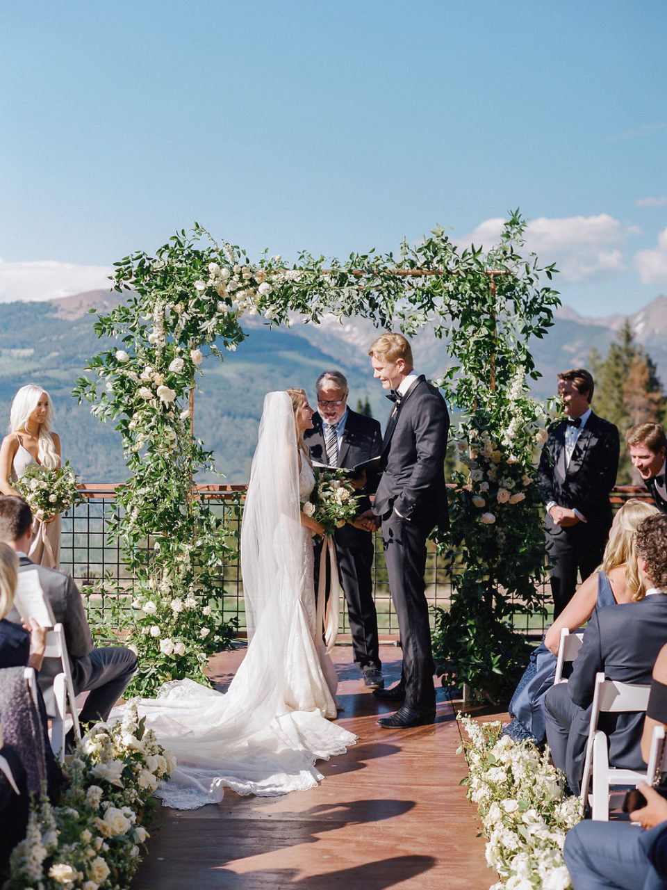 Vail Wedding Deck The 10th ceremony