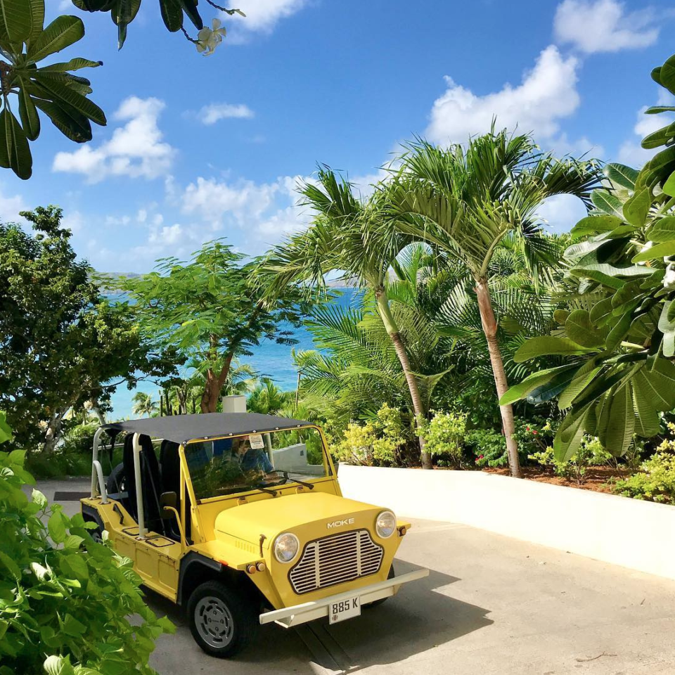 St. Barth's honeymoon travel tropical Jeep