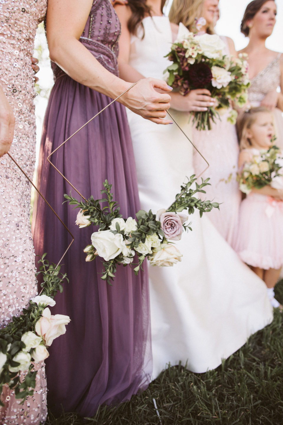 Unique bridesmaid florals