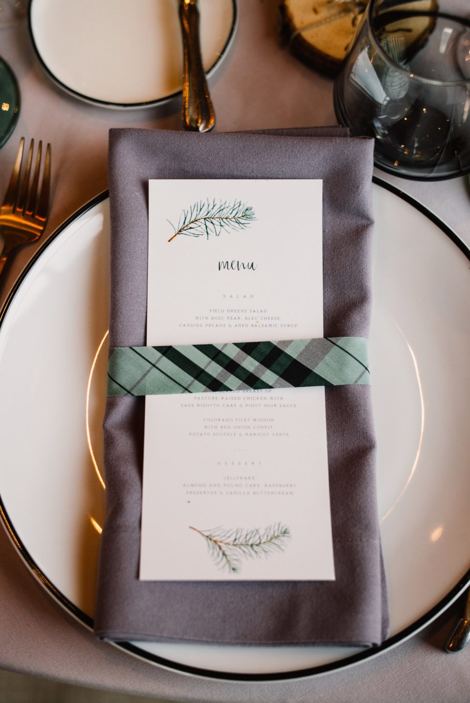 Sweet Zion Paperie menu Colorado wedding