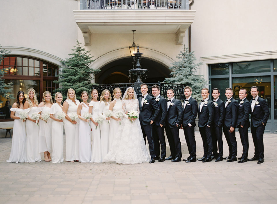 bridal party portraits vail arrabelle square