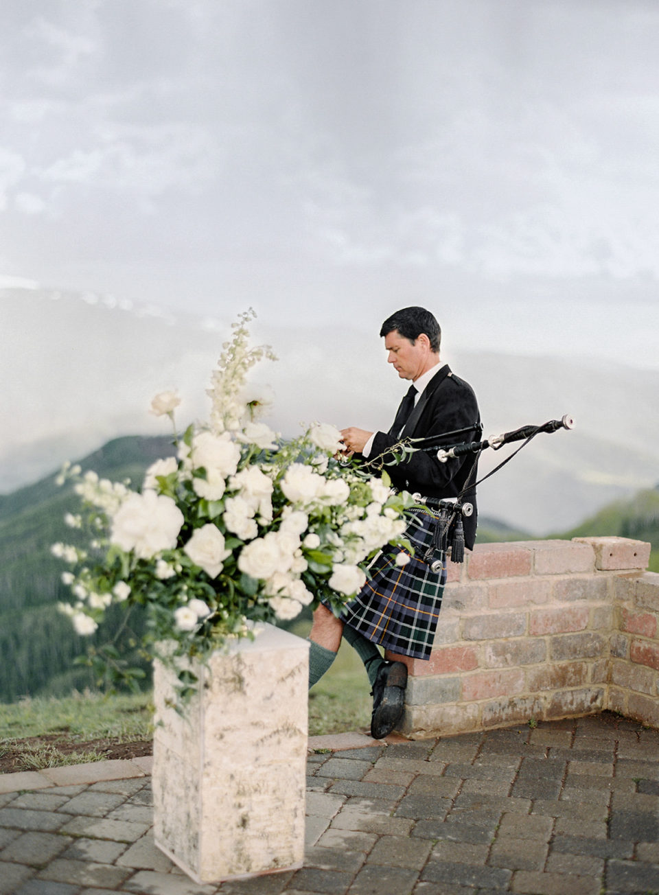 colorado bagpiper vail mountain deck