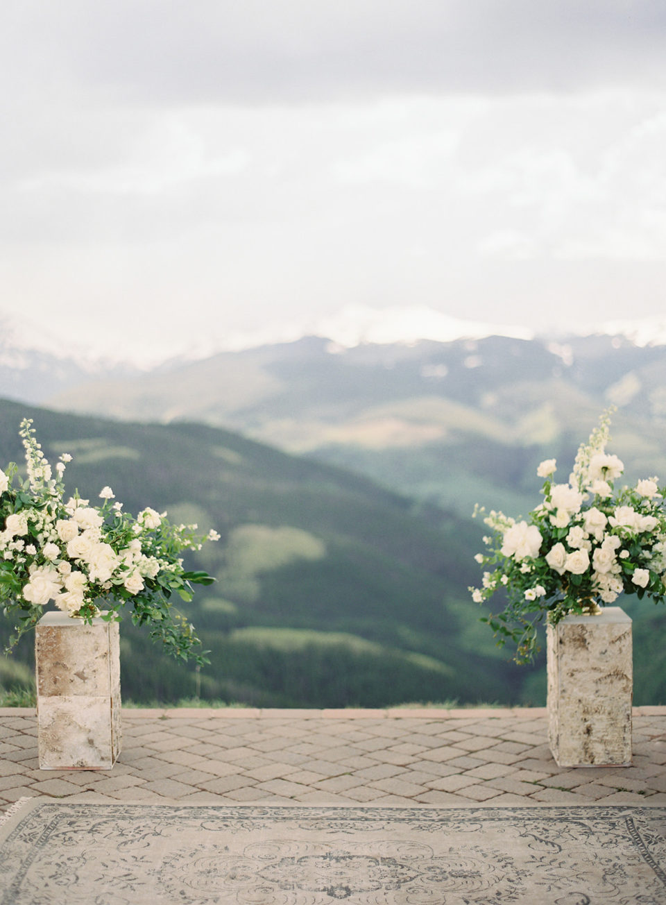 vail mountain deck colorado wedding