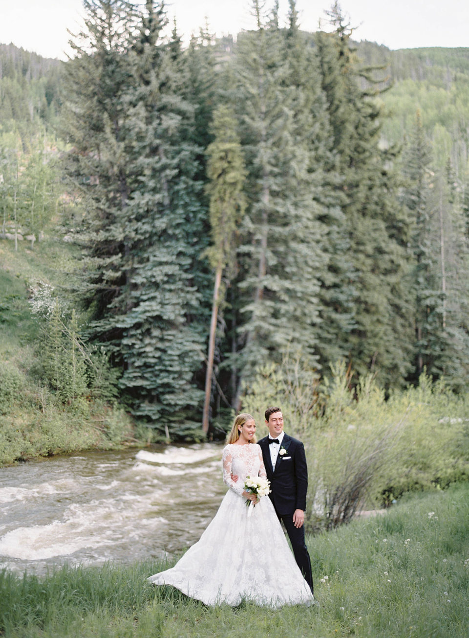 mountain summer wedding bridal portraits