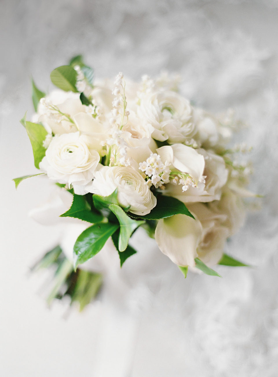 soft white florals delicate bridal bouquet