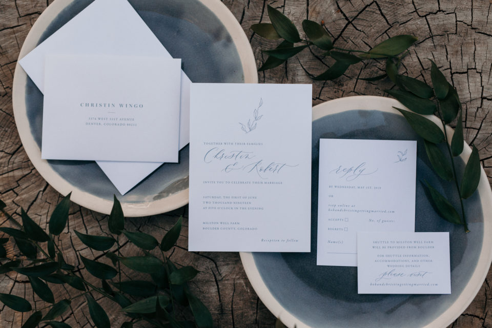 moody elegant simple calligraphy stationery wedding jolie and co