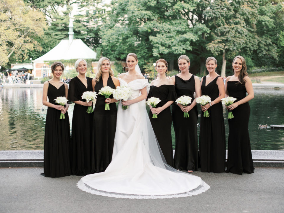 bridal party photos in central park