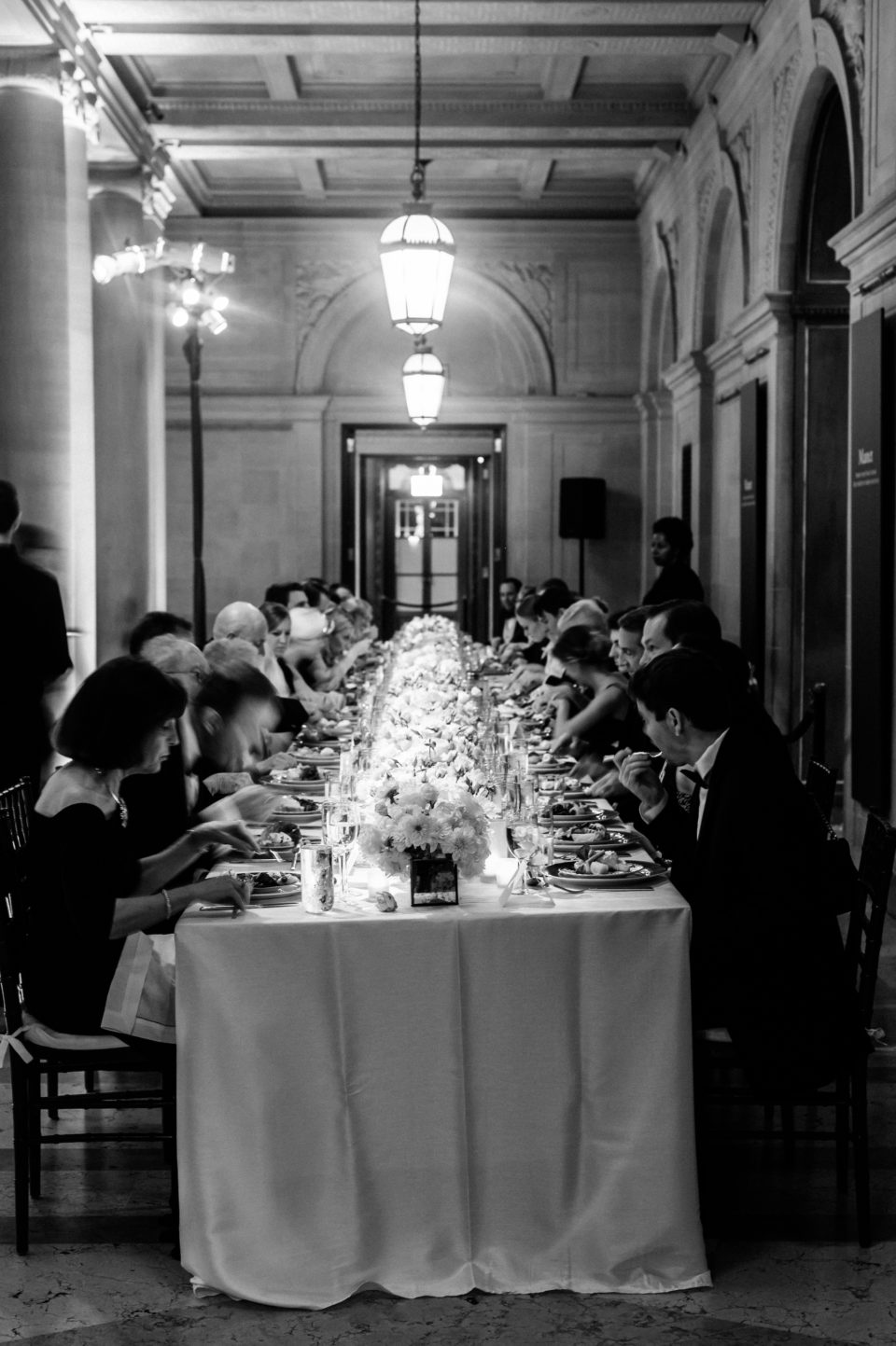 elegant wedding reception at the frick collection nyc