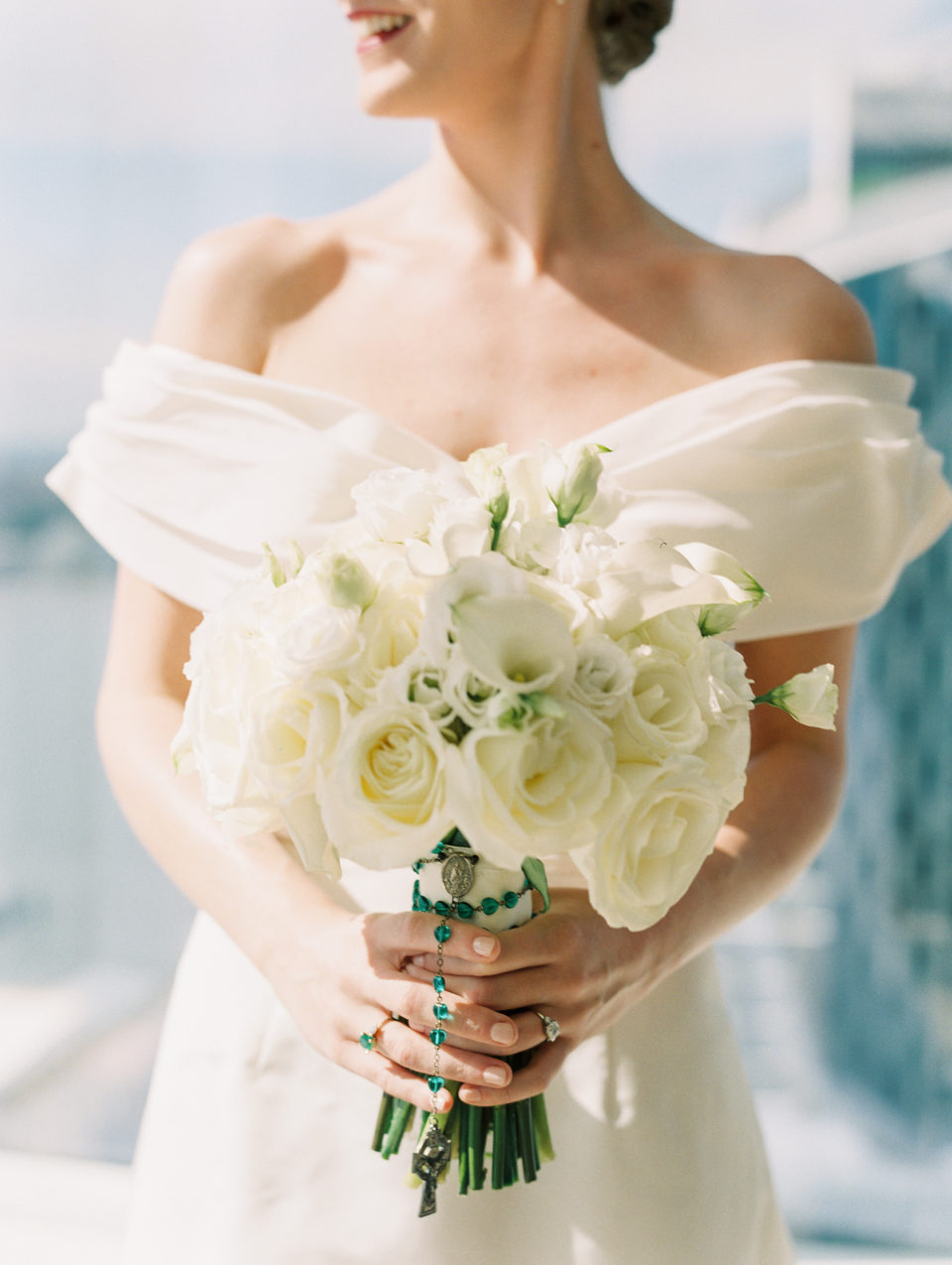 classic white wedding floral bridal bouquet