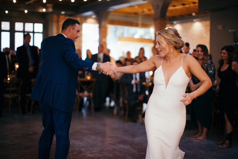 bride groom colorado wedding first dance