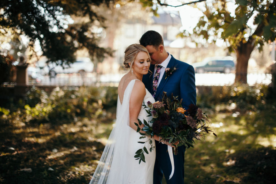 fall wedding bridal portraits