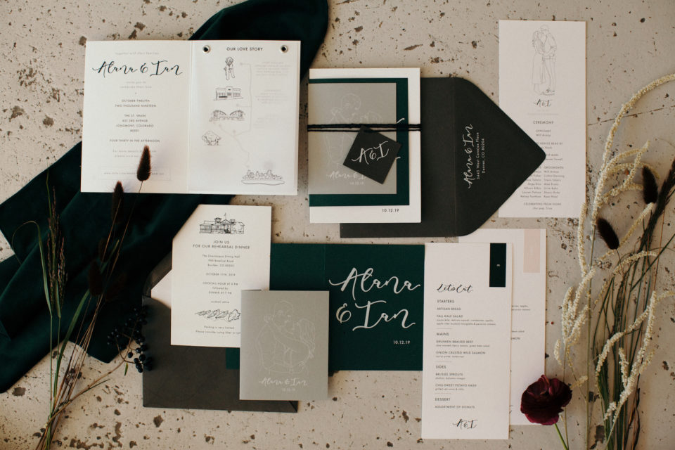 custom stationery wedding suite